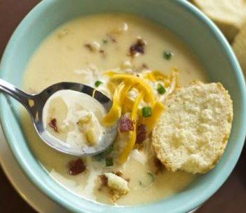 Fırınlanmış Patates Çorbası