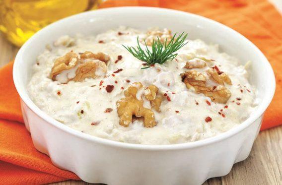 Cevizli ve Tahinli Kabak Salatası