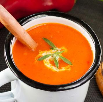 Közlenmiş Kırmızı Biber Çorbası
